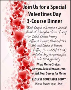 Valentine's Day Dinner to remember